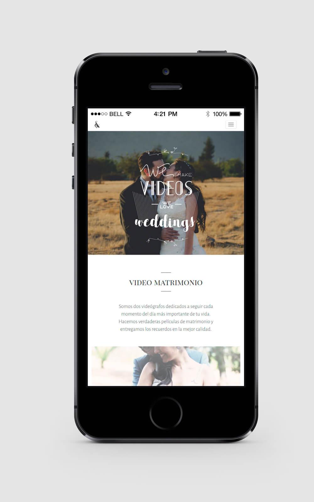 Diseño web responsive para Ampersand Wedding Films - HolyMonkey