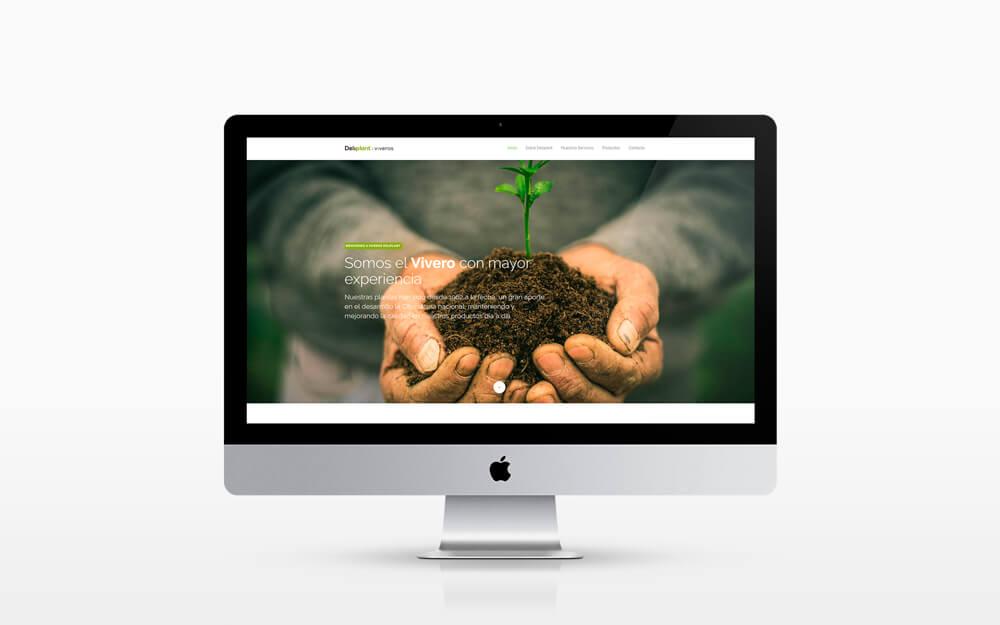 Sitio web corporativo Deliplant realizado por HolyMonkey